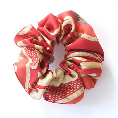 Scrunchie made from vinatge Hermès scarf