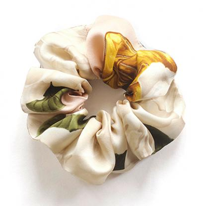 Scrunchie made from vintage Chanel Scarf